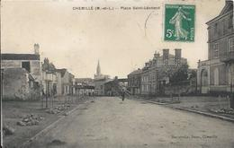 Carte Postale Ancienne De Chemillé La Place Saint Leonard - Chemille