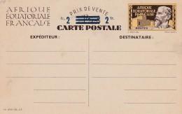_ AEF Entier Carte Postale Correspondance Familiale . Emile Gentil . Acep CP 1 . Superbe - A.E.F. (1936-1958)