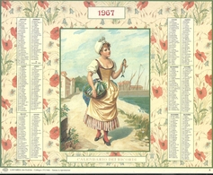 CALENDARI  D'EPOCA  1967  CM.21 X 26--CALENDARIO  DEI  RICORDI-- - Calendari