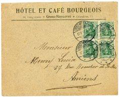 MOSELLE ENV 1912 GROSZ-MOYEUVRE SUR TIMBRE ALLEMAGNE - Marcophilie (Lettres)