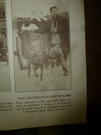 1914 LE MIROIR :Un Laitier Belge Et Sa Charrette à Chien;Les Cabines De Bains à Ostende;Les Soldats Anglais;;Malines;etc - Revistas & Periódicos