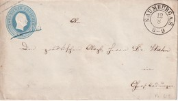 PRUSSE  ENTIER POSTAL LETTRE DE NAUMBURG - Stamped Stationery