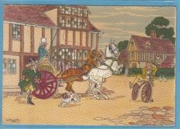 Carte Postale Illustrateur  Barré & Dayer Attelage De Chevaux Cycliste 1230B Très Beau Plan - Illustrateurs & Photographes