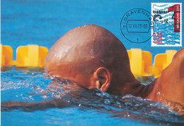 D34767 CARTE MAXIMUM CARD FD 2013 NETHERLANDS - SWIMMING CP ORIGINAL - Swimming