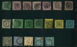BADEN: Kleines Lot Von 19 Marken, - Briefmarken