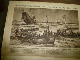 1915 LE MIROIR :Terribles Catastrophes Des Navires ANGLIA Et LUSITANIA (récit-gravure);La Serbie Héroïque; Stoumitza;etc - Riviste & Giornali
