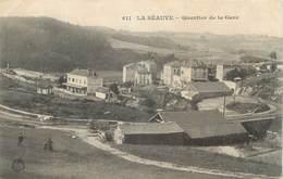 """CPA FRANCE 43 """" La Séauve, Quartier De La Gare """" - France"""