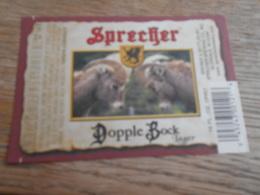 BEER LABEL USA SPRECHER DOPPLE BOCK - Beer