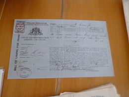 Connaissement Domboot Maatschappij Line Of Mediterraneen Adriatic En Levant Savon Blanc Amsterdam/Riga 14/04/1876 - Pays-Bas
