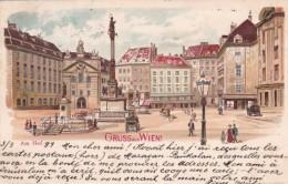 27964Wien, Gruss Aus Wien Am Hof (Briefmarke 1899) - Vienne