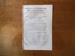 BULLETIN DES LOIS N° 14 DU 20 MARS 1848 LE GOUVERNEMENT PROVISOIRE AU PEUPLE DE PARIS,BOURBON VENDEE DEVIENT NAPOLEON VE - Décrets & Lois