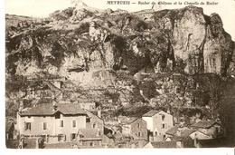 Cpa 48 Meyreis - Rocher Du Chateau Et La Chapelle Du Rocher - Meyrueis