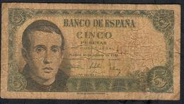 SPAIN P140  5  PESETAS 1951 #Q2447836    FINE - [ 3] 1936-1975 : Regency Of Franco