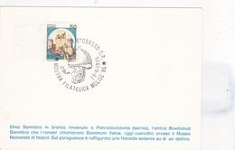 2 CARTOLINE DELLA MOSTRA FILATELICA MOLISE CON FRANCOBOLLO E ANNULLO SPECIALE - Campobasso
