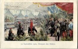 75 Paris Exposition 1900 Litho 22 Septembre 1900 Banquet Des Maires - Expositions