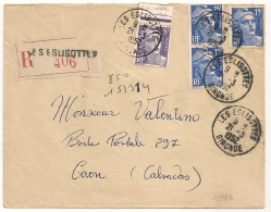 LES EGLISOTTES Gironde Recommandé GANDON, Tarif 50 F. - Lettres & Documents