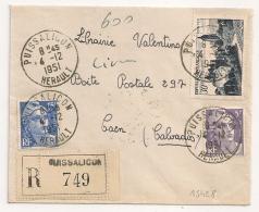 PUISSALICON Hérault Recommandé Tarif 50 F. - Lettres & Documents