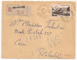MONTPEYROUX Hérault Recommandé Tarif 50 F. 1950 - Lettres & Documents