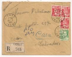 LIGNAC Indre Recommandé Tarif 50 F Au Type GANDON. - Lettres & Documents