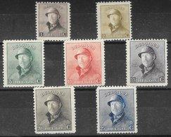 Belgique N°165 à 171 1919-20 (*) - Belgio
