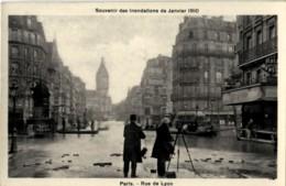 75 Paris Inondations 1910 Rue De Lyon Photographe - Paris Flood, 1910