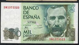 SPAIN P158a  1000  PESETAS 1979 #5W1375523     VF NO P.h. ! - [ 4] 1975-… : Juan Carlos I