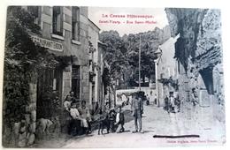 CPA --- SAINT-VAURY --- Rue Saint Michel --- Restaurant Bidon - Frankreich