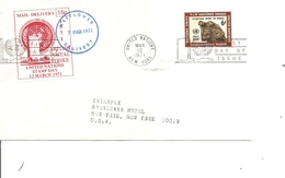 Nations-Unies ( Lettre De 1971 De New-York Vers L'intérieur -Voir Vignette Privée) - New York -  VN Hauptquartier