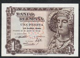 SPAIN P135  1  PESETA 1948  Serie M   UNC. - [ 3] 1936-1975 : Régence De Franco