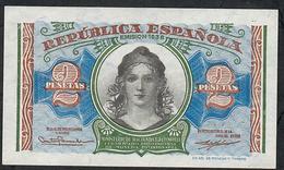SPAIN P95  2  PESETAS 1938  Serie A   UNC. - 1-2 Pesetas