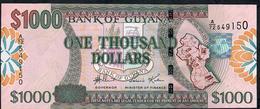 GUYANA P38b 1000 DOLLARS (2006) Signature 14 #A/72 UNC. - Guyana