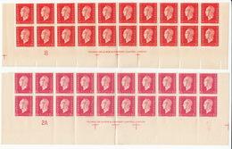 MARIANNE DE DULAC - 4 Bandes De 10 Timbres N°685 Et N°691 Neufs** - THOMAS DE LA RUE - 1944-45 Marianne Of Dulac