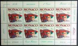 Monaco 1998 Unif.2177 Minisheet **/MNH VF - Blocks & Kleinbögen