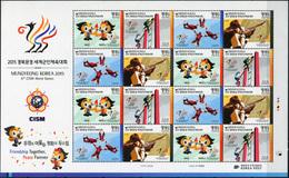 Korea South. 2015. Mungyeong Korea 2015 6th CISM World Games (MNH OG **) Miniature Sheet - Corée Du Sud