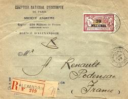 1922 -enveloppe à En-tête RECC.   Affr.  Y & T N° 58   Pour Podensac - Lettres & Documents