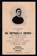 LUTTINO: - Sac. MATTAVELLI D. COSTANTE - DECEDUTO NEL 1914 - Religione & Esoterismo