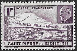 Saint Pierre Et Miquelon  1941 -   Y&T 210  -  Pétain - NEUF* - St.Pierre Et Miquelon