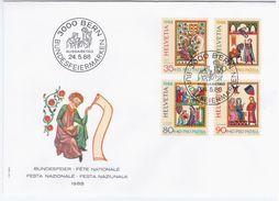 Switzerland Swiss Schweiz Svizzera Helvetia 1988 FDC Pro Patria, ART AND CULTURE, KUNST - FDC