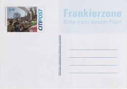Postkarte Ganzsache Citipost Citi Post Briefmarke 40 Cent Euro HAJ Marathon Hannover Start 2016 Frankierzone Privatpost - BRD