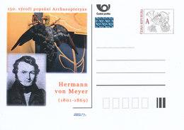 Rep. Ceca / Cart. Postali (Pre2011/44) Il 150 ° Anniversario Descrive L'Archaeopteryx, Il Paleontologo Hermann Von Meyer - Altri