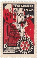 MAROC - Timbre Vignette TANGER 1936 - Conferencia Del Distrito - Rotary International - Morocco (1956-...)