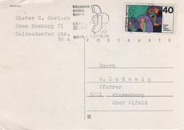 Postkarte Deutsche Bundespost Post Briefmarke 40 Pfennig DM Mark Kampf Dem Drogenmißbrauch 1975 - BRD