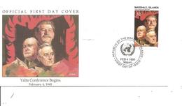 Guerre40/45 -  Conférence De Yalta -1945 ( FDC Des Marshall De 1995 à Voir) - Guerre Mondiale (Seconde)