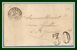 Type 15 Châtillon S Marne (49) 1859 + T30 > Ste Gemme (T15 Dormans ) Belles Frappes - Postmark Collection (Covers)