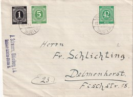 ALLEMAGNE ZONE AAS 1946  LETTRE DE OLDENBURG - Zone AAS