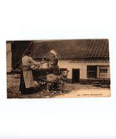 1 Carte  C1920  Ganshoren Attelage De Chiens Hondenkar - éd Henri Georges 764 LAITIERE Flamande Herberg Verhaegen - Ganshoren
