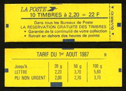 FRANCE - CARNET YT 2376-C11 - FERME - DATE - Confectionneuse 9 - Carnets