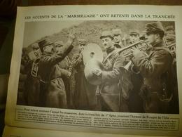 1915 LE MIROIR :Musiciens-soldats;Carency;Souchez;Auve;Suippes;St-Etienne-du-Temple; 400.000 Soldats (armée Bulgare);etc - Riviste & Giornali