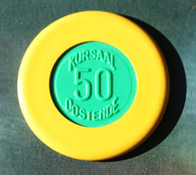 "Jeton De Casino De 50 Francs ""50 - Kursaal Oostende - Ostende"" Casino Chip - Casino"