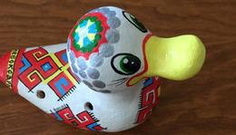 Sifflet Canard (porcelaine), Origine De Gorki (Nijni Novgorod) Russie, Belle Pièce Neuve (envoi Avec Protection) - Autres Collections